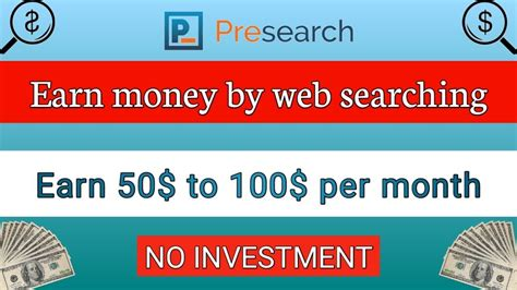 Presearch!! Earn while searching what you use to search