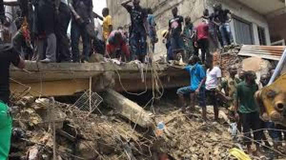 Tragedy as Lagos building collapses, primary school children trapped, feared dead